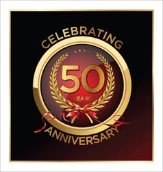 50 years anniversary label vector