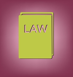 Law book icon set of laws symbol of justice vector