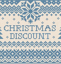 Christmas discount scandinavian or russian style vector