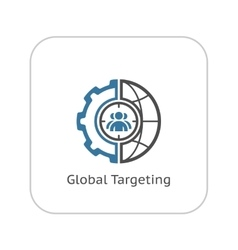 Global targeting icon flat design vector