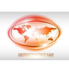 world abstract circle on white red vector image