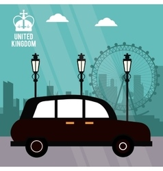 Traditional car icon united kingdom design vector