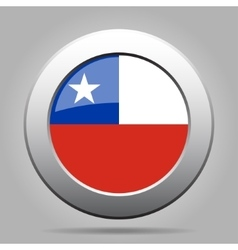 Metal button with flag of chile vector