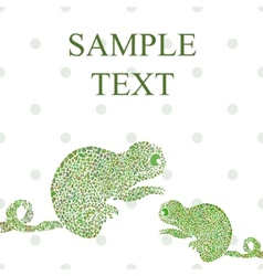 Abstract chameleon vector image vector image