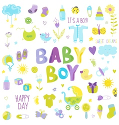 Baby boy design elements - for design and scrap vector