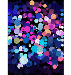 Blue and pink bubble with little line art texture vector image vector image