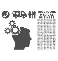 Business Idea Icon with 1000 Medical Business vector image vector image