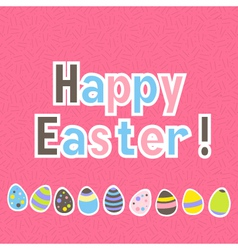 Easter colorful pink greeting card vector image vector image