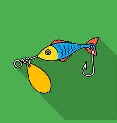 fishing bait icon in flat style isolated on white vector image vector image