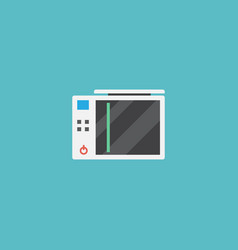 flat icon game console element vector image