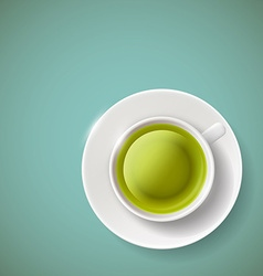 green tea Stock vector image vector image