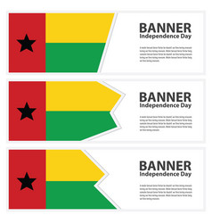 Guinea flag banners collection independence day vector