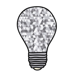 hand drawn background with light bulb and abstract vector image