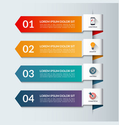 Infographic arrows template with 4 options vector image vector image