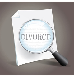 Looking at Divorce vector image vector image