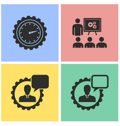 management consulting icon set vector image vector image