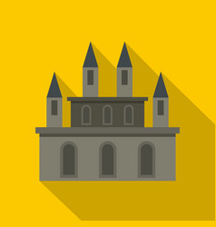 medieval castle icon flat style vector image vector image