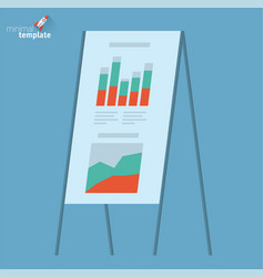 presentation board template vector image