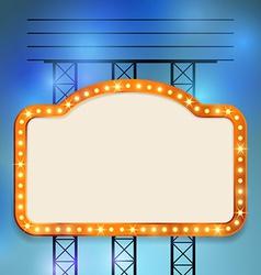Retro cinema old vintage bulb frame sign vector