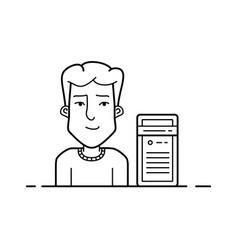 Server hosting support vector