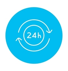 Service 24 hrs line icon vector