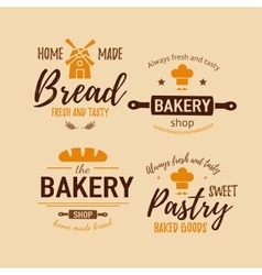 Set of bakery badges vector image vector image