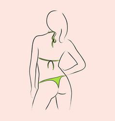 sexy in bikini vector image vector image