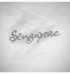 Singapore icon vector