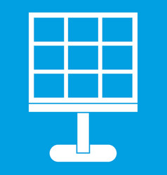Solar battery icon white vector