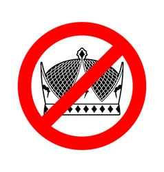 Stop king prohibited emperor crossed-out crown vector