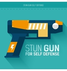 Stun gun for self defense icon vector