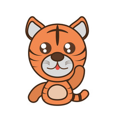 Tiger baby animal kawaii design vector