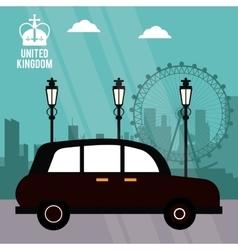 traditional car icon United kingdom design vector image