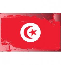 tunisia national flag vector image vector image