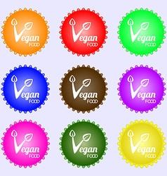Vegan food graphic design icon sign Big set of vector image vector image