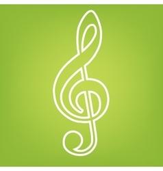 Violine clef line icon vector