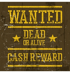 Wanted poster Wild West Design template Wanted vector image