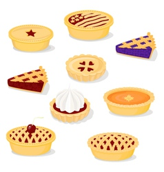 Pies and tarts vector