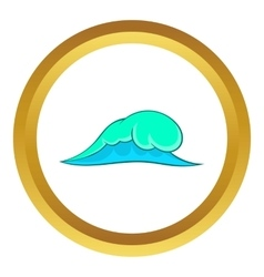 Big ocean wave icon vector