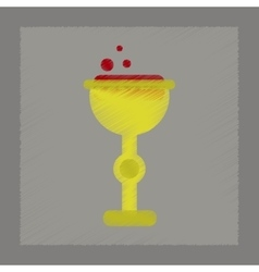 flat shading style icon cup potion vector image
