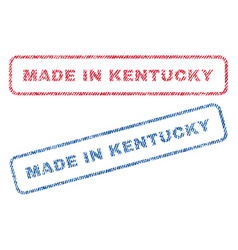 Made in kentucky textile stamps vector