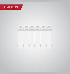 Isolated heater flat icon radiator element vector