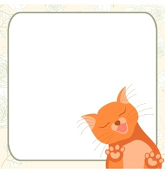 Cute romantic card with tender cat who kisses you vector