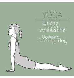 Yoga pose vector