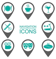 Navigation icons silhouette icons public vector