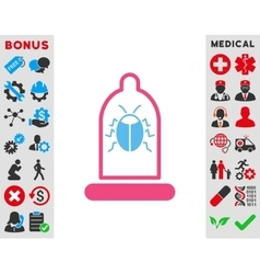 Bug protection icon vector