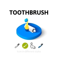Toothbrush icon in different style vector
