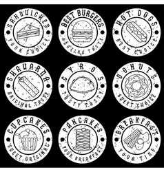 Set of vintage grunge labels of food vector