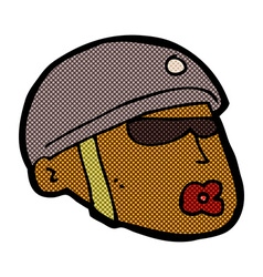 Comic cartoon policeman head vector