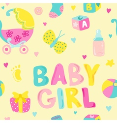 Baby girl seamless background vector